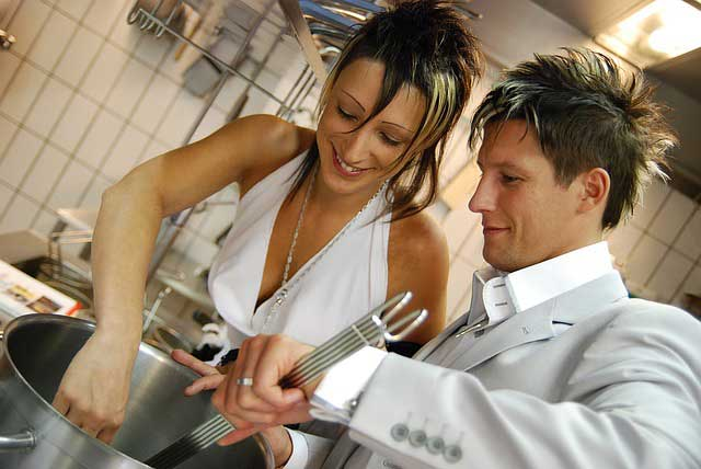 couple cooking class, limousine service in NYC