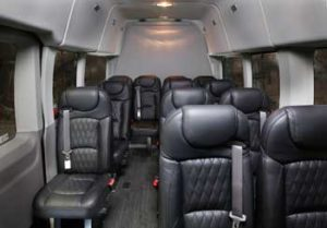 interior of luxury van New York limo service